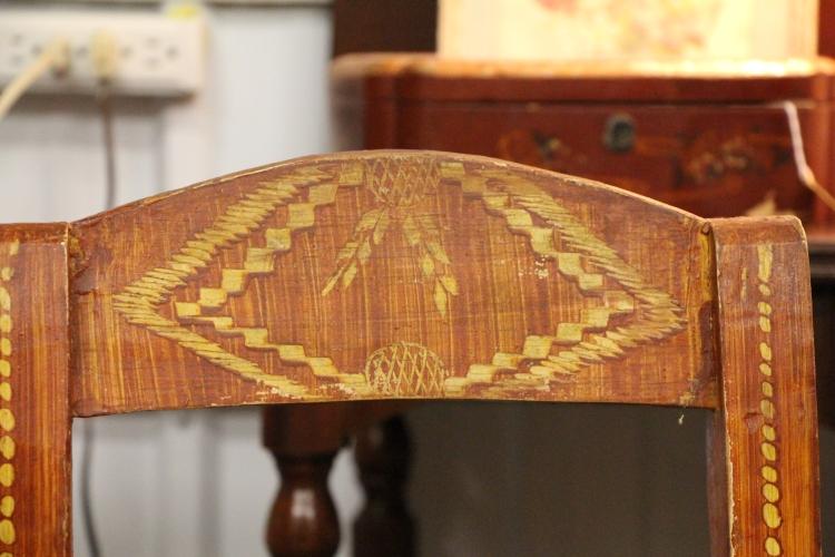 handpainted chair detail
